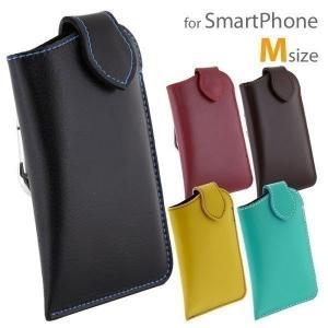 本革 レザー スマホポーチ スマホケース カラビナ Mサイズ iPhone6 Xperia A4 アイフォン エクスぺリア ケース カバー|keitai