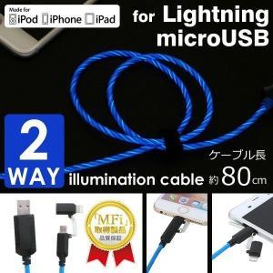 microUSBにも、Lightningにも使える便利な2Wayタイプのケーブルです。 バッテリーの...