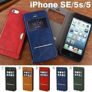 iPhoneSE ケース アイフォンSE iPhone5s ケース iPhone5 手帳型 横 窓 メンズ ケース アイフォン5s アイホン5 ケース カバー 窓付き フリップ ダイアリー CERTA|keitai