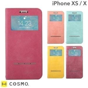iphonex  iphonexs ケース 窓付き 手帳型 アイフォンx アイホンx  窓付 ケース ダイアリー ケース COSMO FLIP コスモフリップ|keitai