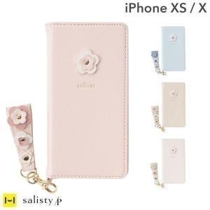 iPhoneXS ケース 手帳型 iphoneX ケース 手帳 可愛い おしゃれ salisty サリスティ P フラワースタッズ ダイアリーケース アイフォンXS|keitai