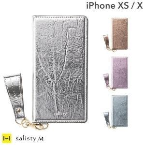 iPhoneXS ケース 手帳型 iphoneX ケース 手帳 キラキラ おしゃれ salisty サリスティ M シャイニー ダイアリーケース アイフォンXS|keitai