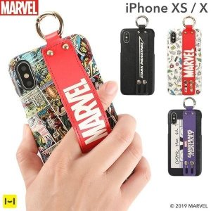 iPhone XS/X専用 MARVEL/マーベル  easty バンド付きハードケース|keitai