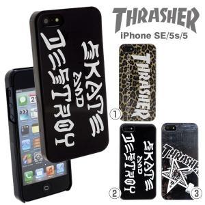 (SoftBank/au iPhoneSE/5s/5専用)THRASHERスラッシャーハードケース第二弾|keitai