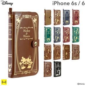 名入れ iPhone6s ケース ディズニー 手帳型 手帳 横 iPhone6s iPhone6 ケース カバー アイフォン6s アイフォン6 ブランド ICカード Old Book  disney_y|keitai