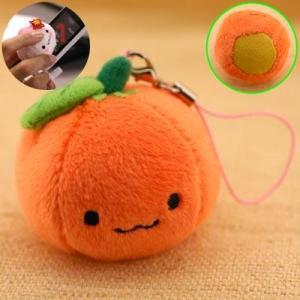 携帯クリーナー ぬいぐるみ みかんちゃんクリーナー携帯ストラップ(オレンジ) keitai