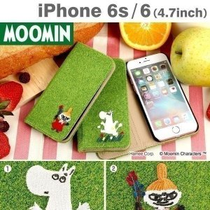 iPhone6s iPhone6 ムーミン Shibaful Flip Cover for iPhone6s 6 手帳型 横 ケース ケース カバー|keitai
