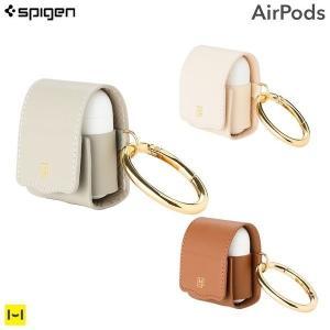 AirPods ケース エアポッズ ケース LA MANON by Spigen PUレザーケース