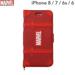 マーベル MARVEL スマホケース 手帳型 iPhone8  iPhone7 ケース iPhone6s iPhone6 ケース カード収納 iPhoneケース スマホ ケース レッド|keitai
