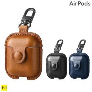 AirPods エアポッズ ケース  USAMS 本革ケース