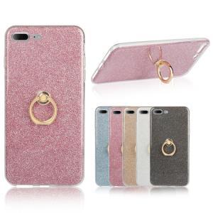 iPhone8 plus/iPhone7 Plus ケース TPU 耐衝撃 スマホリング付き ラメ エレガント かわいい アイフォン7 プラス デコケース|keitaicase
