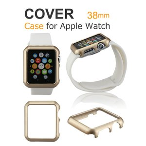 Apple Watch ケース 耐衝撃 カラーサイドバンパー 38mm用 シンプルでおしゃれなアップルウォッチ 用 バンパーカバー  aw-cc01-38-w50520|keitaicase