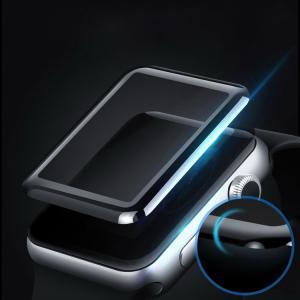 Apple Watch Series 3 ガラスフィルム 強化ガラス 立体ラウンドタイプ 38mm/42mm 0.2mm 液晶保護  aw3-film3d-w71017 keitaicase