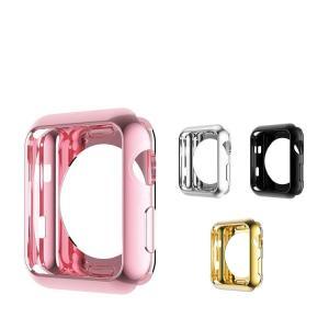 Apple Watch Series 3 ケース メッキ 42mm TPU メタル調 鏡面加工 アップルウォッチ3 ソフトカバー  aw3-ho06-42-w70926|keitaicase