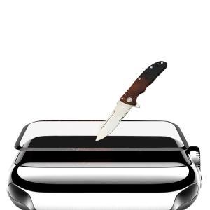 Apple Watch Series 4 ガラスフィルム 強化ガラス 立体ラウンドタイプ 40mm/44mm 0.2mm 液晶保護  aw440-film01-w80915