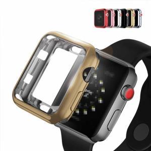 Apple Watch Series4 ケース/カバー メッキ 44mm TPU メタル調 鏡面加工 アップルウォッチ4 ソフトカ  aw444-dd02b-w80913 keitaicase