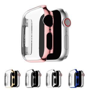Apple Watch Series 4 ケース/カバー PC カバーケース/カバー 44mm用 メッキ 液晶カバー アップルウォッチ シリーズ4 クリアカバー ハードケース|keitaicase