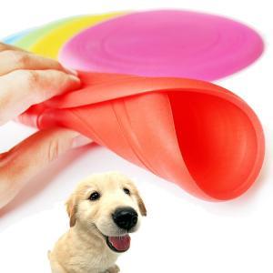 フリスビー 犬用 シリカゲルソフトフリスビー  柔らか素材と耐久性  ペットのインタラクティブ  犬のおもちゃ 犬用フリスビー  dog-02-l50226|keitaicase