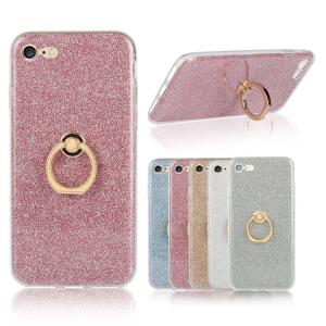 Apple iPhone8/iPhone7 ケース TPU 耐衝撃 スマホリング付き TPU ラメ エレガント かわいい アイフォン7 デコケース keitaicase