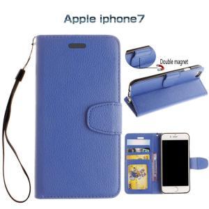 iPhone8 / iPhone7 ケース 手帳型 レザー ストラップ付 シンプル おしゃれ カード収納 アイフォン7 手帳型カバースマートフォン/スマフォ/スマホケース/カバー|keitaicase