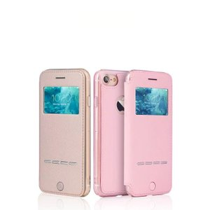 Apple iPhone8/iPhone7 ケース 手帳型 レザー 窓付き カバーの上から操作 アイフォン7 手帳型カバー keitaicase