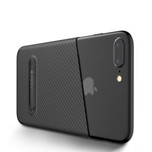 apple iPhone 8 Plus ケース カーボン調 TPU スリム 薄型 シンプル かっこいい アイフォン8プラス ソフト  ip8p-tt-w80-t70914|keitaicase