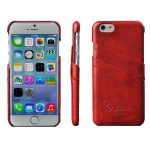 iPhone6 ケース レザー カード収納/名刺ホルダー タフで頑丈なプロテクター ジャケット アイホン 6 カバー 背面カバー   iphone6-62-f40902 keitaicase