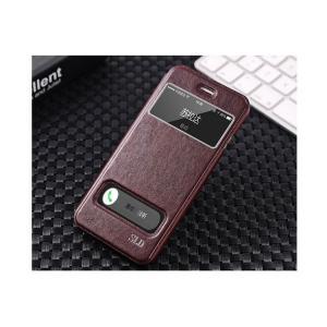 iPhone6 Plus 手帳 ケース レザー (5.5インチ) 窓付き カード収納/ウォレット/財布型ケース アイフォン 6 P  iphone6ps-72-f40923|keitaicase