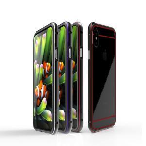 iPhone X アルミバンパー ケース 耐衝撃 背面カバー付き かっこいい スリム 軽量 アイフォンX メタルサイドバンパー|keitaicase