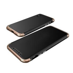 iPhone X アルミバンパー ケース 背面カバー付き 際立つエッジ 金属アルミ かっこいい アイフォンX メタルサイドバンパー|keitaicase