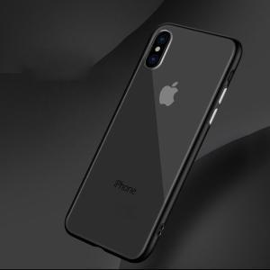 iPhone XS / iPhone X  クリア ケース バンパー TPU 耐衝撃 カバー シンプル スリム アイフォンXスマートフォン/スマフォ/スマホバンパー|keitaicase