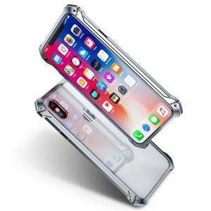 アイフォンXS/X ケース アルミ バンパー クリア 透明  PC背面パネル付き かっこいい アイフォンXS/X アルミバンパースマートフォン/スマフォ/スマホバンパー|keitaicase