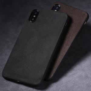 Apple iPhone XS / iPhone X  ケース カバー レザー調 かっこいい 背面カバー シンプルでスリム スマートフォン/スマフォ/スマホケース/カバー|keitaicase