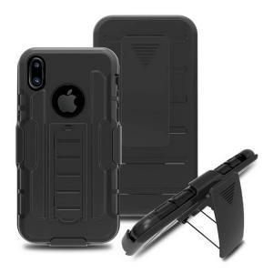 apple iPhone X ケース 耐衝撃 TPU 2重構造 頑丈でタフ ベルトクリップ スタンド シンプルでおしゃれな アイフ  ipx-kj13-w70711|keitaicase