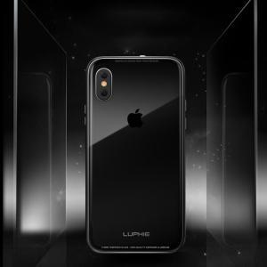 アイフォンX ケース アルミ バンパー クリア 透明 背面強化ガラス 背面パネル付き かっこいい iPhoneX ケース|keitaicase