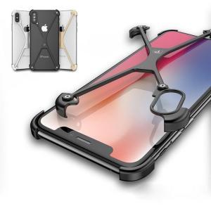 apple iphone X アルミフレーム 4コーナーガード クロスフレーム かっこいい アイフォンX メタルケース スマホのア  ipx-pf02-w71025|keitaicase