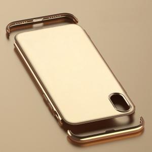 iPhone X ケース シンプル スリム メッキ メタル調 アイフォンX ハードカバー|keitaicase