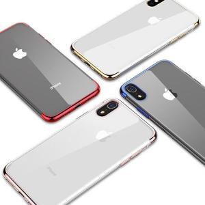 iPhone XR クリアケース TPU アイフォンXR おしゃれなメッキのソフトケーススマートフォン/スマフォ/スマホケース/カバー|keitaicase