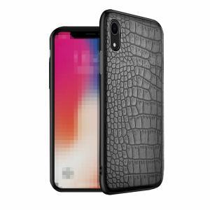 Apple iPhone XR ケース/カバー TPU レザー クロコダイル調 アイフォンXR ソフトケース/カバー アップル おすすめ おしゃれ スマホケース/カバー|keitaicase