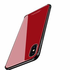 Apple iPhone XR ケース/カバー TPU バンパー 背面強化ガラス 背面パネル付き かっこいい ソフトケース スマートフォン/スマフォ/スマホバンパー|keitaicase