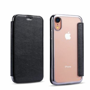 Apple iPhone XR ケース/カバー 手帳型 レザー メッキ スリム シンプル スタンド機能 カード収納 上質なPUレザー アイフォンXR  手帳タイプ レザーケース/カバー|keitaicase