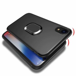iPhone XR ケース TPU リング付き 片手操作に便利なリングブラケット付き アイフォンXR スマートフォン/スマフォ/スマホケース/カバー|keitaicase