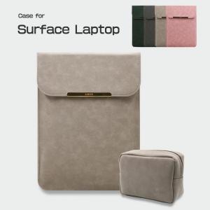 Surface Laptop ケース レザー 電源収納ポーチ付き セカンドバッグ型 おしゃれ サーフェス ラップトップ用 カバン型  laptop-bag02b-w70725|keitaicase