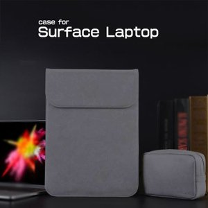 Surface Laptop ケース レザー 電源収納ポーチ付き セカンドバッグ型 おしゃれ サーフェス ラップトップ用 カバン型  laptop-bag06f-w70727|keitaicase