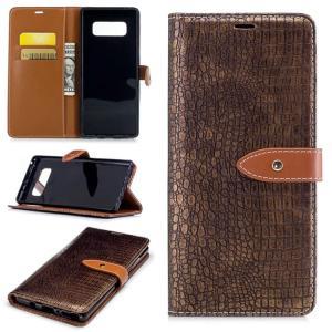 samsung Galaxy Note8 ケース 手帳型 レザー クロコダイル調 ワニ革風 カバー カード収納付き ギャラクシー   note8-04-l70720|keitaicase