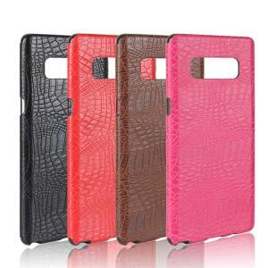 Galaxy Note8 ケース レザー クロコダイル調 ワニ革風 スリム 背面カバー シンプルでスリム ギャラクシーノートスマートフォン/スマフォ/スマホケース/カバー|keitaicase