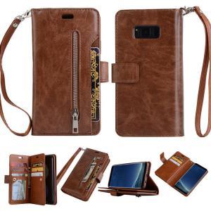 Samsung Galaxy Note8 ケース 手帳型 レザー カード収納 ストラップ付き ウォレット型 財布型 おしゃれ ギャ  note8-23-l70817|keitaicase