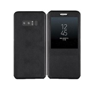 Samsung Galaxy Note8 ケース 手帳型 レザー 窓付き 上質で高級PUレザー ギャラクシーノート8 手帳タイプ   note8-52-l70913|keitaicase