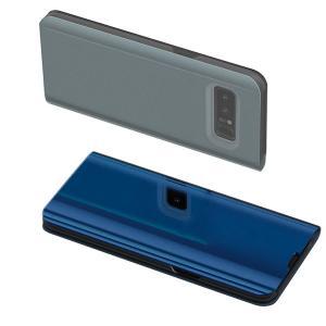 Samsung Galaxy Note8 ケース 2つ折り 液晶保護 パネル 半透明 サムスン ギャラクシー ノート8 耐衝撃ケー  note8-sam04d-w710201