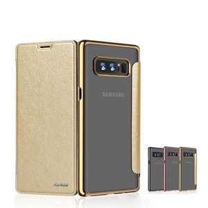Samsung Galaxy Note8 ケース 手帳型 レザー メッキ スリム シンプル スタンド機能 カード収納 上質なPUレ  note8-xd08h-w71031|keitaicase